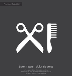 barber shop premium icon white on dark background vector image