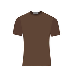 brown t-shirt vector image vector image
