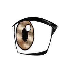 cartoon eye expression emotion image vector image vector image