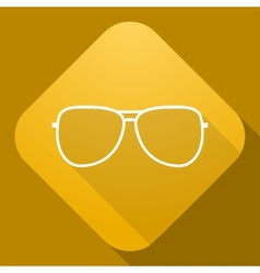 Icon of Sunglasses with a long shadow vector image vector image