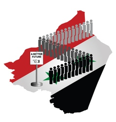 Syrian Migration vector image vector image