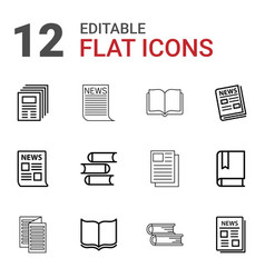 12 publication icons vector