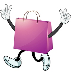 A purple bag vector image