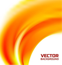 Abstract blurred orange flame background vector image