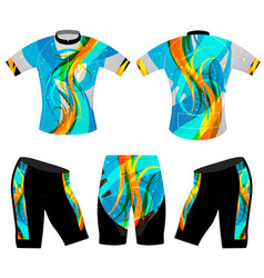Abstract colors cycling vest vector