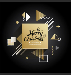 abstract meryy christmas gold geometric pattern vector image