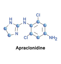 apraclonidine is a sympathomimetic vector image