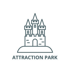 attraction park line icon attraction park vector image