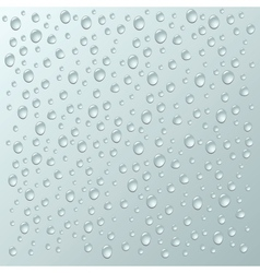 Background with a lot of water drops vector image