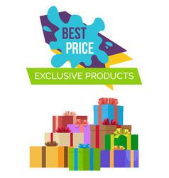 best price exclusive product premium quality goods vector image
