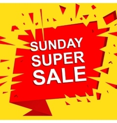Big sale poster with sunday super sale text vector