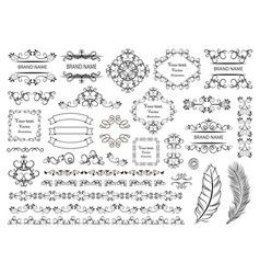 big set of graphic elements for design vector image vector image