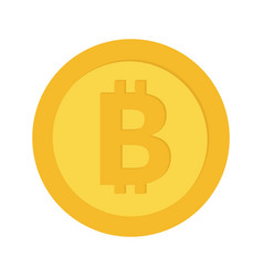 bitcoin crypto currency blockchain gold coin vector image