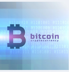 bitcoin currency background design vector image