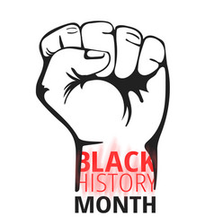 Black history month concept vector