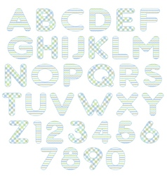 blue green alphabet vector image
