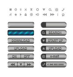Buttons and icons for web vector image