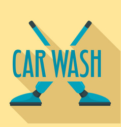 car wash vacuum cleaner logo flat style vector image