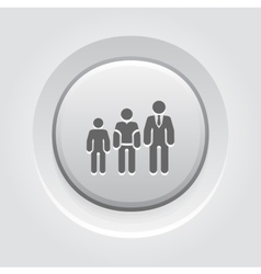 Career growth icon grey button design vector