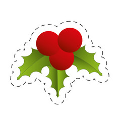 christmas decoration leave design vector image