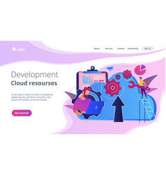 cloud engineeringconcept landing page vector image