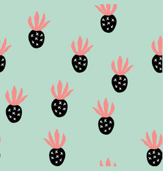 creative trendy seamless pattern with fruits vector image