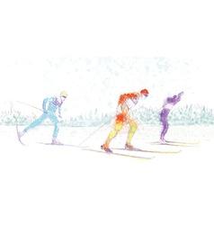 Cross-country skiing vector