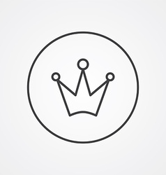 Crown outline symbol dark on white background logo vector