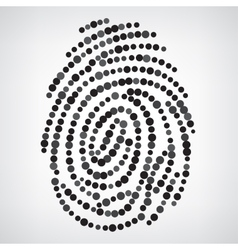 Dotted Finger Print vector