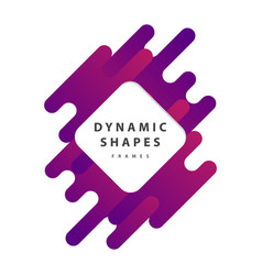 Dynamic wavy form with irregular parallel rounded vector
