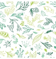 Eco Sketch Spring Pattern vector image