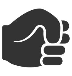 Fist Flat Icon vector image