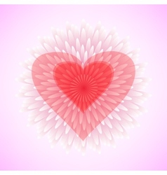 flower heart love concept vector image