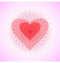 flower heart love concept vector image