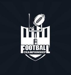 Football championship icon vector