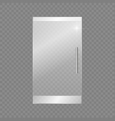 glass doors isolated on transparent background vector image