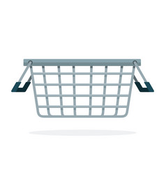 grocery basket at store flat material design vector image
