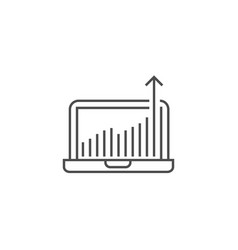 growth traffic line icon vector image