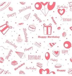 Happy Birthday greeting pattern vector image