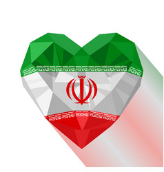 Heart the flag of iran vector