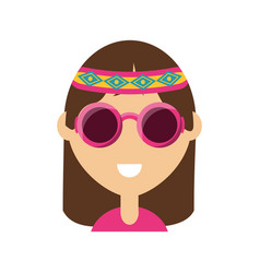 hippie woman vector image