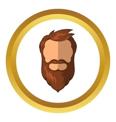 Hipster man icon cartoon style vector
