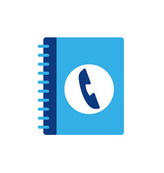 Isolated phone directory icon flat design vector