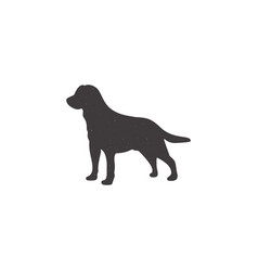 Labrador icon in silhouette style dog stand vector