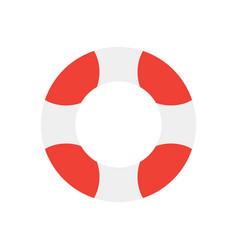 lifebuoy isolated on white background flat design vector image