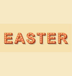 light sign easter concept vector image