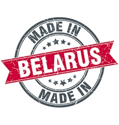 Made in Belarus red round vintage stamp vector