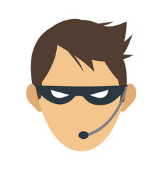 male hacker icon image vector image