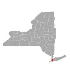 Map queens in new york vector
