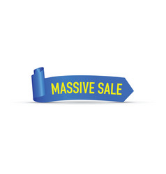 Massive sale blue sign vector